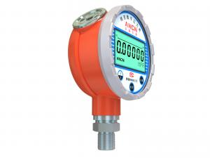 China 0.05% Accuracy Digital Pressure Gauge , Precision Pressure Gauge Six Digits LCD Display on sale