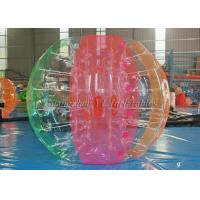 Colorful Inflatable Soccer Bubble Ball For Kids / PVC Soccer Ball Suit 1.25m