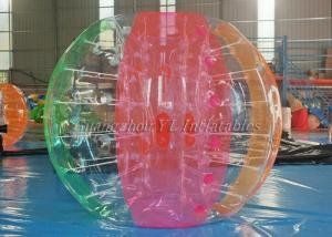 China Colorful Inflatable Soccer Bubble Ball For Kids / PVC Soccer Ball Suit 1.25m on sale
