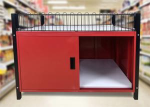 Quality Two Layer Supermarket Display Shelving Supermarket Promotion Table With Storage for sale