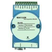 China WAYJUN Modbus RTU to TCP , RS232/485 to Ethernet Module,blue Support AUTO MDI / MDIX DIN35 on sale