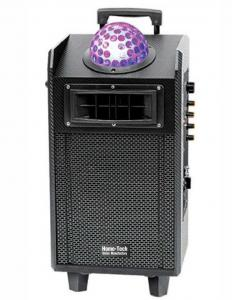 China Top Laser Disco Light Bluetooth Speaker / Portable Speaker Box On Wheels on sale