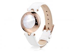 China Smart Wrist Watch Phone  Manufacturer Steps Counting White Leather Rose-Gold on sale