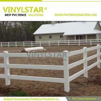 pvc horse fence with 3 Rib Rail