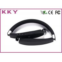China Foldable Neckband Headphones Bluetooth , Retractable Wireless Headphones 104dB on sale