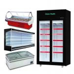 multi-deck chillers with doors refrigerated display cabinets cooler open freezer for supermarket