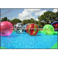 Multicolor Walk On Water Inflatable Human Hamster Ball For Water Park