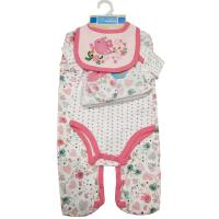 China Pink Baby Girl Clothing Sets Boutique Clothing Softest Organic Cotton on sale