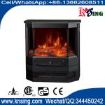 Freestanding electric fireplace heater 3 sided real log flame effect Roman pillar EF332A  heating room/indoor heater