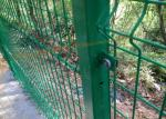 Green Square Post Metal Security Fencing Anti - Climbing For Building Material