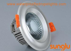 China 7W Plated COB LED Surface Mount Downlight Pearl Silver Color With Convex on sale