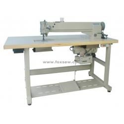 China Long Arm Compound Feed Heavy Duty Lockstitch Sewing Machine on sale