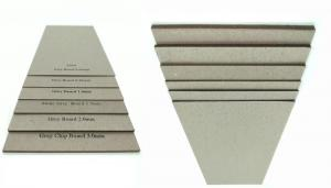 China Stocklot Matte Paper 1.5mm Grey Sheet Cardboard Book Boards For Binding on sale