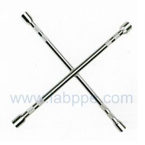 Quality S1614-Knurled chrome Cross Rim Wrench/Cross tire wrench,4 way cross rim car wheel wrench for sale