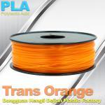 1.75mm /  3.0mm Trans Orange PLA 3D Printer Filament Colors 1KG / Roll