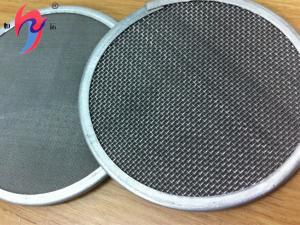 China Plain Weave Stainless Steel Wire Mesh Panels , Metal Mesh Fabric 25 50 100 Micron on sale