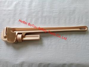 China Non-Sparking Safety Tools Pipe Wrench 24 By Copper Beryllium FM Certificate on sale