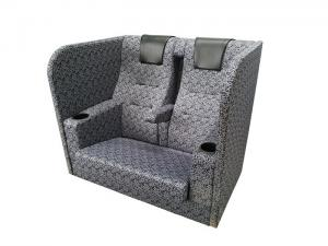 China Professional Theatre Couple Seat , Cinema Sofa Seats High Resilient Urethane Foam on sale