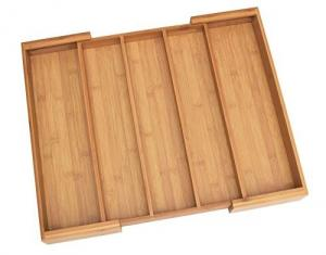 China high quality expendable bamboo kitchen drawer organizer storage box for high quality on sale