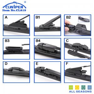 China Auto high quality new hybrid muti-functional silicone windshield wiper blade with 9 adaptors on sale