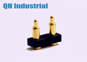 China QH Industrial High Class Precision Customized 2Pin 3Pin 4Pin Single Head 2.54mm 5.08mm Pitch Spring Pogo Pin Connector on sale