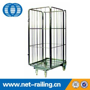 China Metal Foldable wheeled warehouse Roll cage on sale
