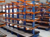 China Heavy Duty Steel Pipe Storage Racks , Cantilever Racking System With Double Arms on sale