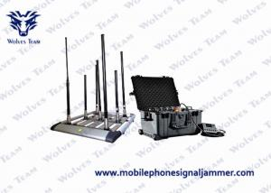 China 350W 4-8bands High Power Drone Jammer Jammer up to 2000m WIFI 2.4G 5.8G GPS 433 MHz on sale