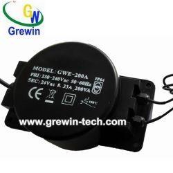 China 230V 24V 150va Grewin Waterproof Toroidal Transformer for LED Lighting on sale