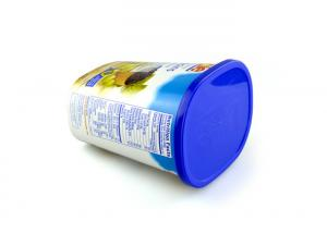 Oval Ice Cream Paper Tube Packing With PE Cap For Dry Food