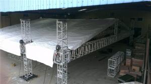 China Concert Stage Roof Truss Aluminum Outdoor TUV Non - Rust Fireproof 450x450 mm on sale