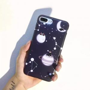 China IMD Black Bright Interstellar Crossing Image Back Cover Cell Phone Case For iPhone 7 6s Plus on sale