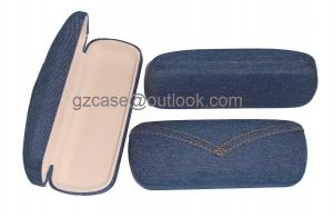 China stylish semi hard eyewear cases with jean fabric surface material on sale