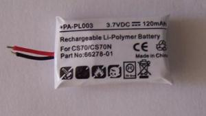 Quality Batterie 66278-01 PA-PL003 de Plantronics CS70 for sale
