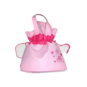 China Pink Non Woven Reusable Bags Custom Reusable Shopping Bags on sale
