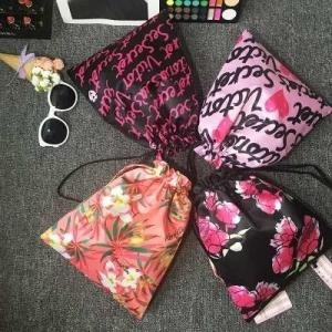 China Victoria's Secret Travel Bag cosmetic Makeup bag drawstring Travel Pouch on sale