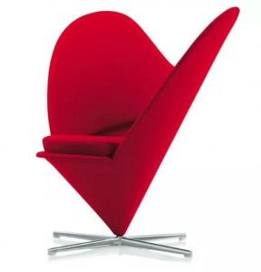 China Heart Shape Fabric Upholstered Modern Restaurant Chairs / Comfortable Living Room Chairs on sale