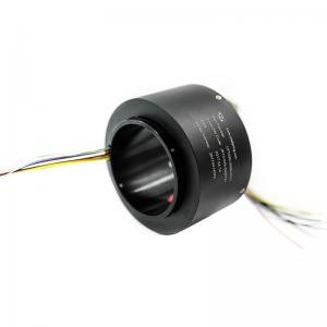 China Automatic Labeling Machine Through Bore Slip Ring 80 Mm Hole Size 12 Wire Routing 5A Per Ring on sale