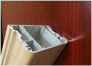 China Industrial Sandblast Aluminium Channel Profiles Silver Color For Heat Sinks on sale