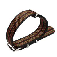 China 26mm Stripe Nylon Strap Watch Bands Colorful Polished Buckle on sale