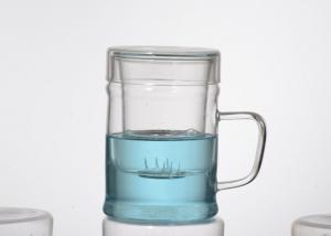 China Heat - resistant Tea borosilicate drinking glasses With Glass Infuser on sale