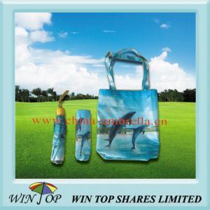 China 21 3 Folding Shopping Bag Umbrella on sale