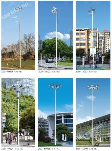 China 15m 18m 20m 25m 30m 35m football gymnasium field Q235 galvanized LED High Mast Light Pole with lifting system on sale