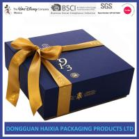 Luxury Rigid Cardboard Gift Boxes Light Weight Food Packaging With Ribbon