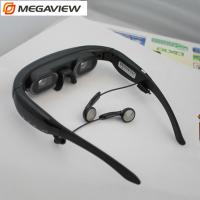 "Wearable  72"" Mobile Theatre Video Glasses Wide Screen 16 / 9 Virtual Picture Music Movie"