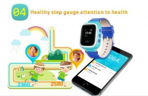 China Shenzhen 1.44 color screen health pedometer kids gps smart watch with sim card wrist watch pedometer for kids on sale