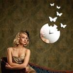 Horloge murale numérique créative de l'horloge de miroir DIY