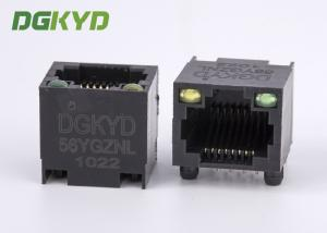 China DGKYD-56YGZNL Unshielded Ethernet Connector Rj45 Single Port with Y/G Led on sale