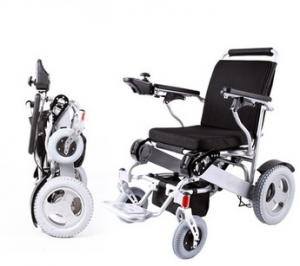 China Brushless folding electric power wheelchair Lightweight aluminum manual folding handicappe on sale