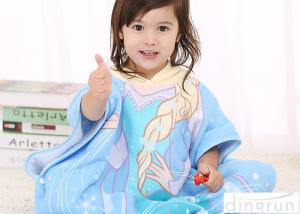 China Cute Animal Hooded Poncho Towels For Children Cotton / Polyester Material on sale